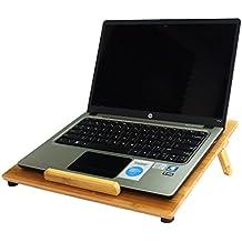 Bambú Natural Aleratec refrigeración con ventilación para ordenador portátil/soporte de mesa con ventilador hasta 15in