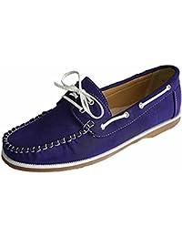 Femmes Coolers Faux Cuir Nubuck Mocassins Lacet Chaussures Bateau Tailles 4 - 8 - Lilas, EU 38
