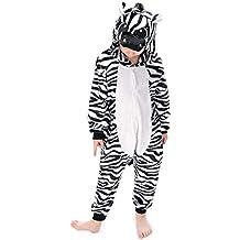 Pijama Kigurumi Niño Niña Animal Cuerpo Entero Cosplay Pyjamas Ropa de Dormir con Capucha Unisex Halloween