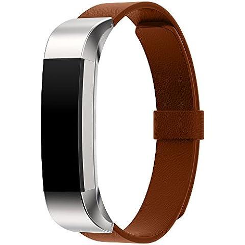 For Fitbit Alta ,Transer® Bucle magnético de lujo cuero genuino correa de la banda de pulsera para Fitbit alta Tracker
