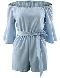 HCFKJ Kleid, Damen Sommer 2018 Holiday Casual Mini Playsuit Damen Jumpsuit  Sommer Strand Kurze Hosen cce7b4c115