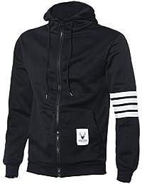 ZARU Masculinas sudaderas con capucha de marca de deportes juego de los hombres camiseta ocasional de las chaquetas con capucha de la cremallera