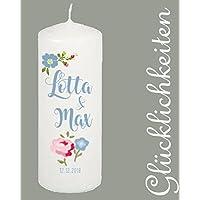handmade / Hochzeitskerze/ Hochzeitskerze personalisiert / Kerze mit Namen /