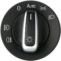 KKmoon Faro controllo dell'interruttore luce di nebbia dell'automobile di placcatura Knob accessori di ricambio per VW Golf 5 Sagita CC B6 2005-2013 3C8941431A/B/D
