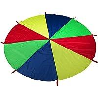 Coomir Juguete de paracaídas para niños con Asas Juego Tienda de paracaídas tapete Juegos cooperativos Regalo de cumpleaños