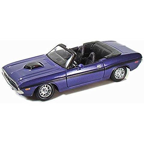 Maisto 1970 Dodge Challenger R/T Convertible 1/24 Scale Diecast Model Car Purple by Maisto