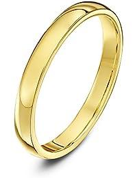 Theia Unisex Super Heavy Court Shape Polished 18 ct Gold Wedding Ring