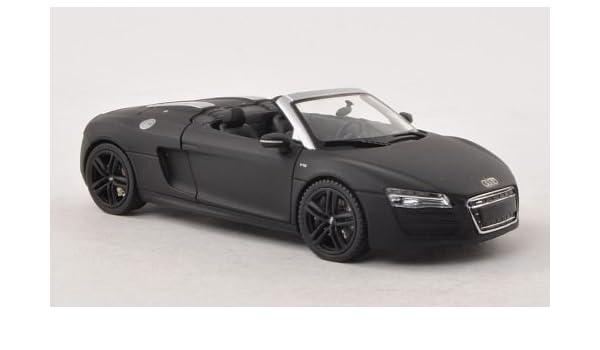 Audi R8 Spyder Matt Schwarz Modellauto Fertigmodell Schuco 1