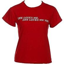 JUTOO - Camiseta - Casual - para Mujer