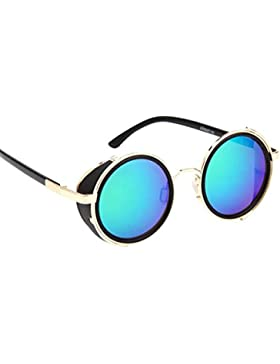 Winwintom hombres mujeres moda Vintage Retro moda gafas de aviador espejo lente gafas de sol viajes