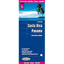 Costa Rica-Panama, mapa de carreteras impermeable. Escala 1:550.000. Reise Know-How.