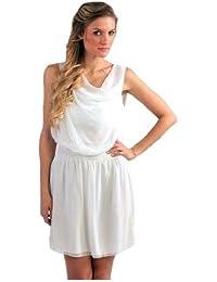 Juliet's Kiss - Robe Courte Pour Femmes Encolure Blanc - Taille L