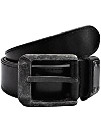 POLO INTL Men's Leather Belt (Black, 36 inches)
