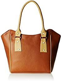 Fantosy Women's Handbag (Tan and Beige) (FNB-356)
