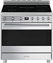 Smeg 5 Hobs Induction Electric Cooker, 90 Cm 5 Cooking Levels,C9IMX9-1 - 1 Year Warranty