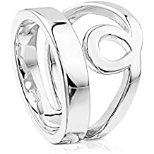 df09e6e5a5e1 TOUS anillo Lio de plata de primera ley Ancho  1