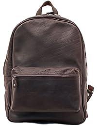 LE MARIOL sac à dos en cuir style vintage pour école loisirs PAUL MARIUS couleur INDUS