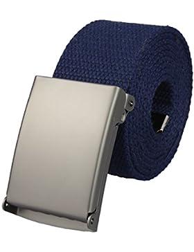 Cinturón de tela alta calidad de ancho de 4 cm con cierre desplegable en varios colores| Tamaño de la cintura:...