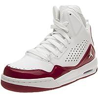 Nike Jordan SC-3 BG - Zapatillas de Baloncesto de Piel Para Niño Gris Blanco/Rojo Gris Size: 36.5