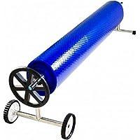 Enrollador Piscina Telescópico (de 4,3 m a 5,55 m) (Cobertor solar) (Acero Inoxidable / Aluminio) Diametro de 100