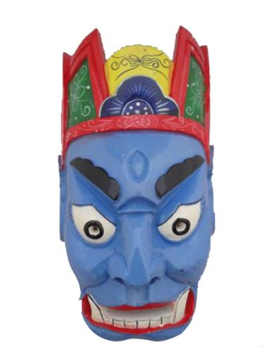Price comparison product image Chinese Home Wall Decor Ritual Dance Mask 100% Wood Craft Folk Art 106 Pro Level - FREE SHIPPING
