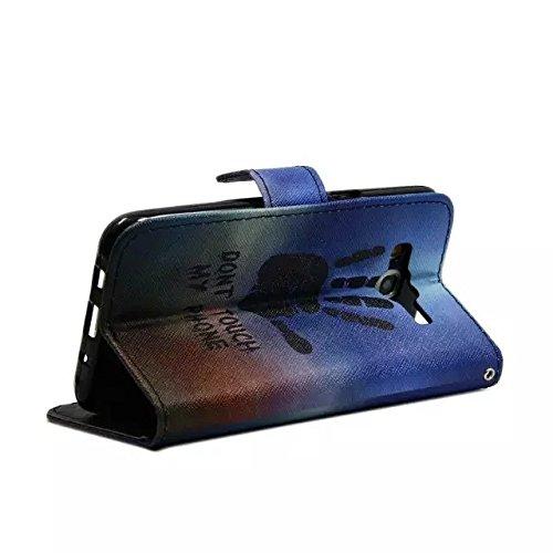 Sunroyal Chic Klapptasche Wallet Case Kunstlederhülle für Samsung Galaxy Grand Prime G530/G530H/G530FZ/G5308W/G5309W/G5306W SM-G530FZ - Cover Flip Tasche Schwarz Design Luxus Magnetic Flip Case mit Ka Pattern 08