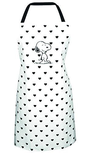 """Peanuts 0122017 Kochschürze \""""Snoopy\"""", Stoff, weiß"""