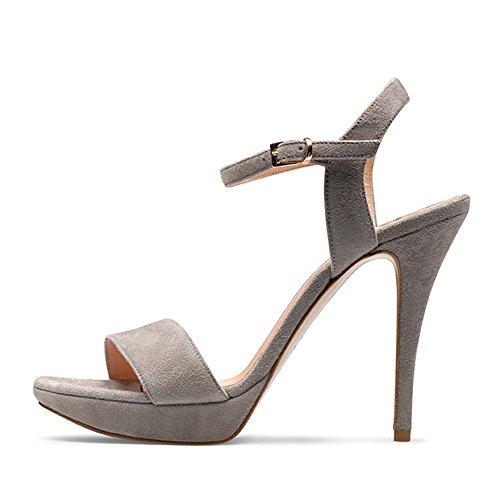 VALERIA sandales femme daim Gris