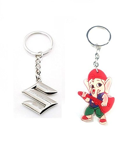 Parrk Full Metal Car Suzuki With Bal Ganesh Key Chain  available at amazon for Rs.149
