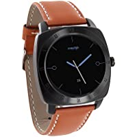 X-WATCH NARA XW PRO black chrome Light cognac brown - Smartwatch Android und iPhone kompatibel