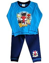 MarvelS Spider-Man Camiseta Oficial de Pijama con Mangas largas para niño certificada Conjunto Pijama