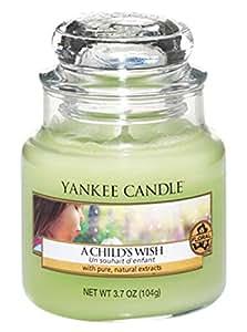 Yankee candle 1254081E Childs Wish Candele in giara piccola, Vetro, Verde, 6.4x6.2x8.6 cm