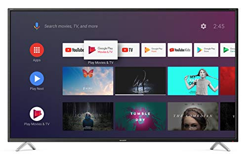 "Foto Sharp aquos android 9.0 40"" google assistant dts virtualx smart tv bluetooth suono harman kardon sat internet wifi youtube netflix 4xhdmi 3xusb 1 sdcard uscita cuffie, scart e audio digitale."