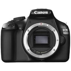 Canon EOS 1100D Appareil photo numérique Réflex 12,2 Mpix Boîtier Nu Noir