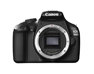 "Canon EOS 1100D - Cámara réflex Digital de 12.2 MP (Pantalla 2.7""), Color Negro - Solo Cuerpo (Importado) (B004MKNBKK) 
