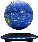 L.HPT Globen für Kinder , Maglev Magnetschwebebahn schwebend rotierend Funkübertragung Touch Control 6'Blue Globe LED Anpassung Home Decor