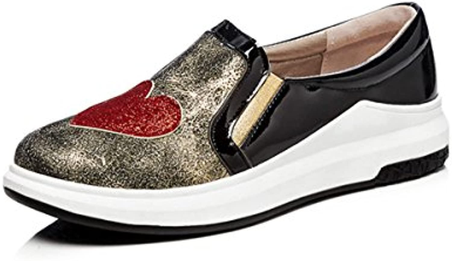 Yiye Damen Flach Mokassins No.898 Pu Leder Modisch Loafer Schuhe