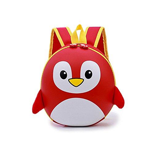 Children s Bag Kindergarten School Bag Cartoon 3D Small Penguin Eggshell Bag  Nylon 3a865add505d5