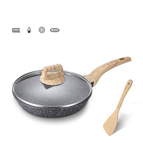 Flat-bottom Non-stick Fry Pan (WEIFAN-Flat bottom pot Non-Stick gebratenes Steak mit flachem Boden Pfanne Pfannkuchentopf Omelettpfanne Gasherd Induktionsherd Universal, 28cm, 1200g)