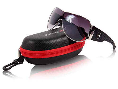 Loox Sonnenbrille 'New York' für Damen - Große Gläser aus Polycarbonat, Farbe: Braun