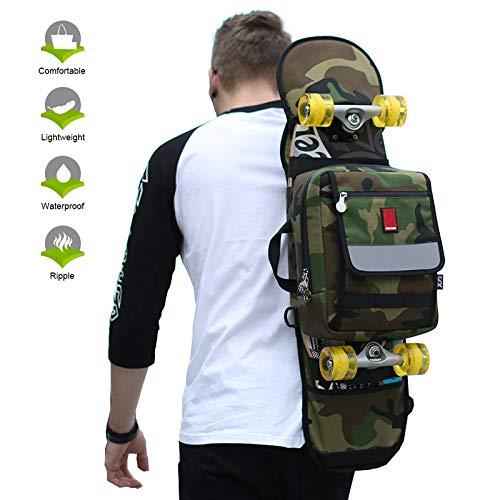 Grist CC Skateboard Rucksack Backpack Unisex Viele Fächer und Taschen Drucksack 90 * 21 cm / 35 * 8 In (Skateboard Tasche Penny)