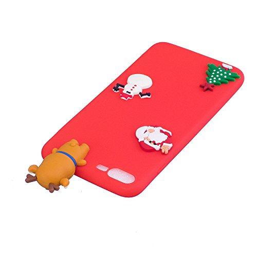 Cover iPhone 7 plus Custodia iPhone 8 plus Silicone Anfire Morbido Flessibile Gel TPU Case per iPhone 7 plus / 8 plus (5.5 Pollici) Ultra Sottile Antiurto Cartoon Protettivo Bumper Shell Ultra Leggera Rosa Orso
