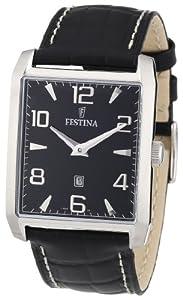 Reloj Festina F16514/3 de cuarzo para hombre con correa de piel, color negro de Festina