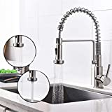 GROHES Kitchen Faucet Brushed Nickel With Pull Down Sprayer Durable And Sturdy Single