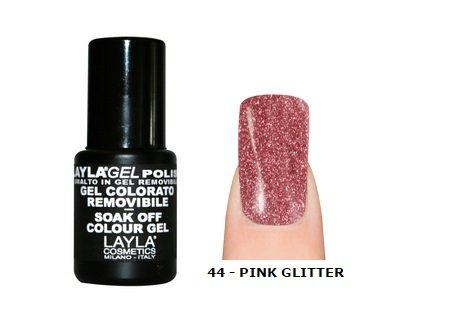 LAYLA-Nagellack Semi-Permanent Soak Off Gel Polish-44Pink Glitter -