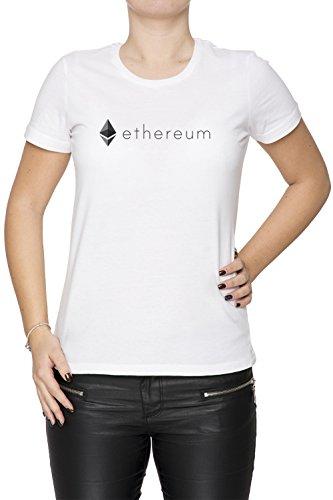 Erido Ethereum ETH Mujer Camiseta Cuello Redondo Blanco Manga Corta Tamaño XL Women'S T-Shirt White X-Large Size XL