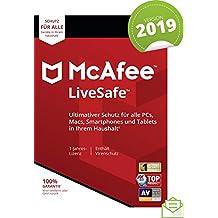 McAfee LiveSafe 2019 |Eine unbegrenzte Anzahl an Geräten | 1 Jahr | PC/Mac/Smartphone/Tablet | Download