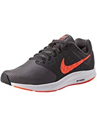 nike running shoes red and grey. nike men\u0027s grey downshifter 7 running shoes red and c
