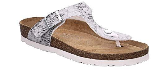 Rohde Alba 5606 Damen Sandale Sandalette Zehentrenner 83 Graphite, Größe:D 40