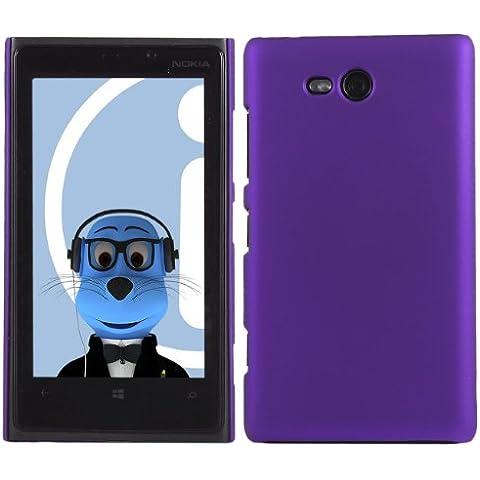 iTALKonline Nokia Lumia 820 PORPORA Difficile Saluto dura della cassa della pelle Soft Grip Slim